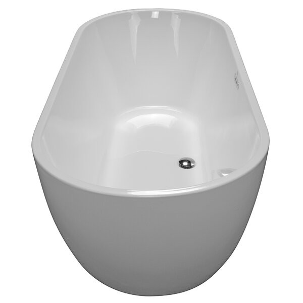 68 x 30 Freestanding Soaking Bathtub by American Acrylic
