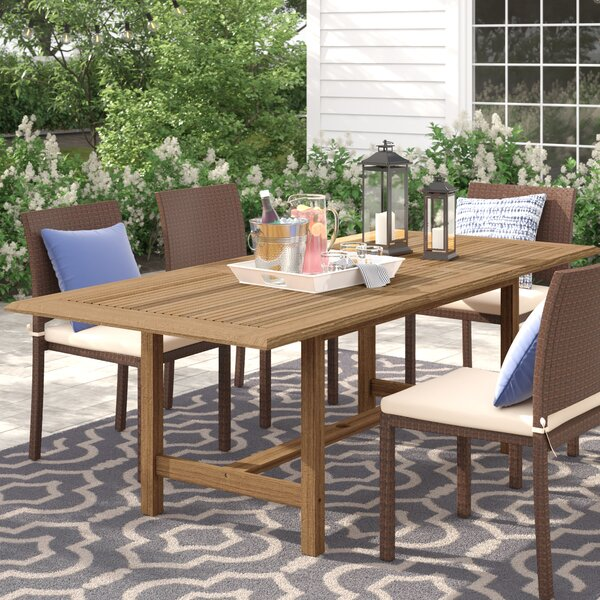 Brighton Extendable Teak Den Dining Table By Sol 72 Outdoor by Sol 72 Outdoor Bargain