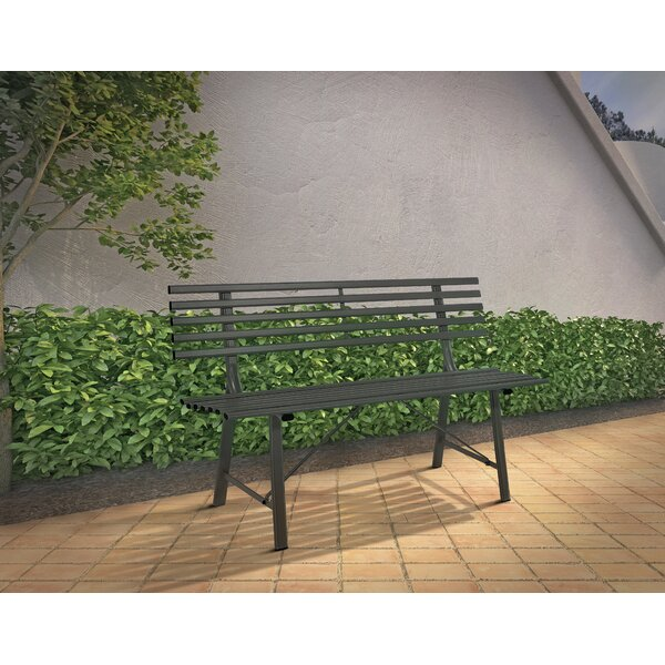 Baker Metal Garden Bench by Woodard