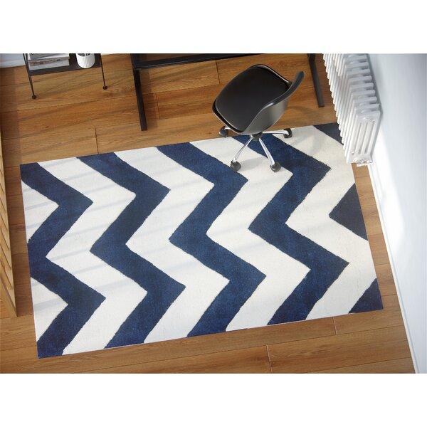 Wilkin Hand Tufted Wool Dark Blue/Ivory Area Rug by Wrought Studio
