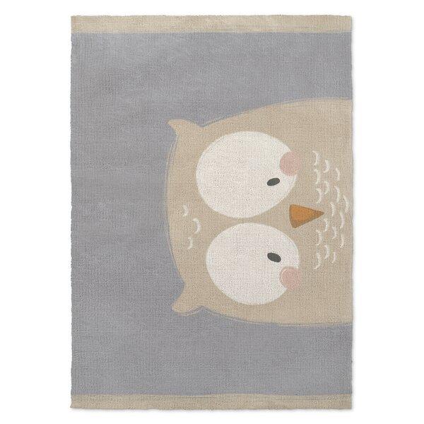 Alzado Owl Gray/Cream Area Rug by Harriet Bee