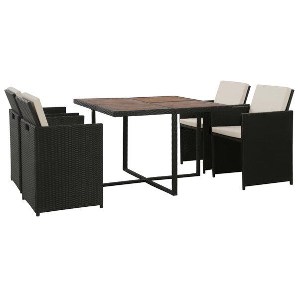 Ardwell 5 Piece Dining Set with Cushions by Ebern Designs