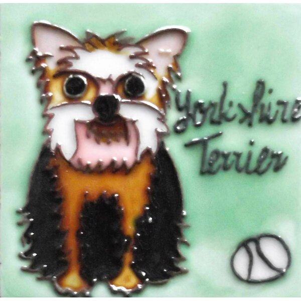 Dog Tile Magnet by Continental Art Center