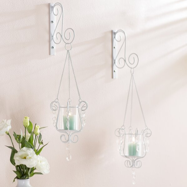 Iron and Glass Sconce Set (Set of 2) by Willa Arlo