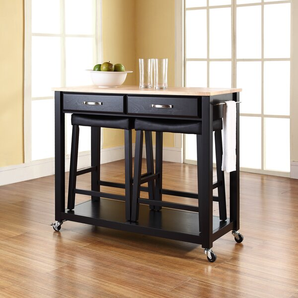 Hedon Kitchen Island Set by Three Posts