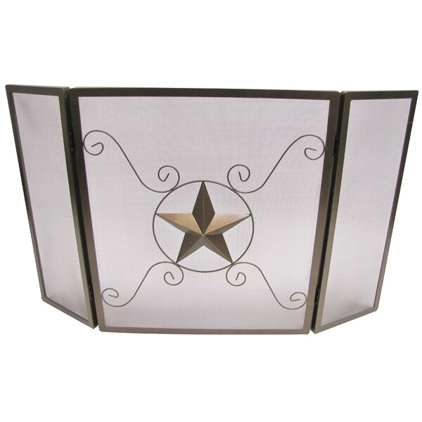Lorraine 3 Panel Steel Fireplace Screen by August Grove