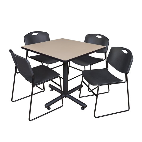 Marin 36 Square 5 Piece Breakroom Table and Chair Set by Symple Stuff