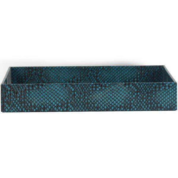 Ava Genuine Leather Rectangle Storage Bathroom Accessory Tray by Brayden Studio