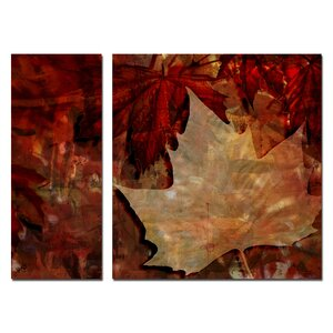 'Abstract Autumn' 2 Piece Graphic Art on Wrapped Canvas Set by Ready2hangart