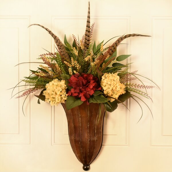Mixed Floral Arrangement in Wall Sconce by Bloomsbury Market