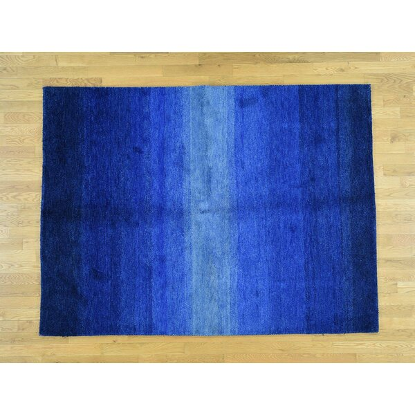 One-of-a-Kind Becker Plush Denim Handwoven Blue Wool Area Rug by Isabelline