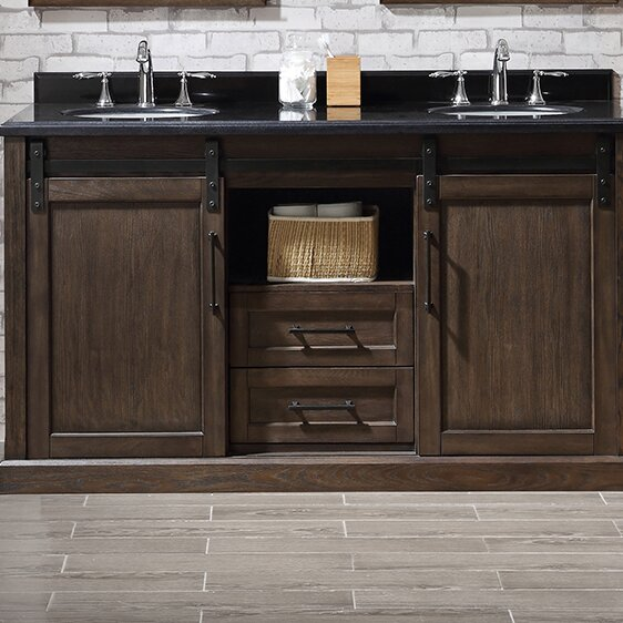 Laredo 60 Double Bathroom Vanity Set by Ove Decors