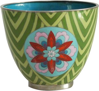 Cloisonne Metal Pot Planter by Piling Palang