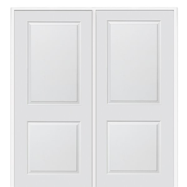 Carrara Primed Double MDF Panelled Prehung Interior Door by Verona Home Design
