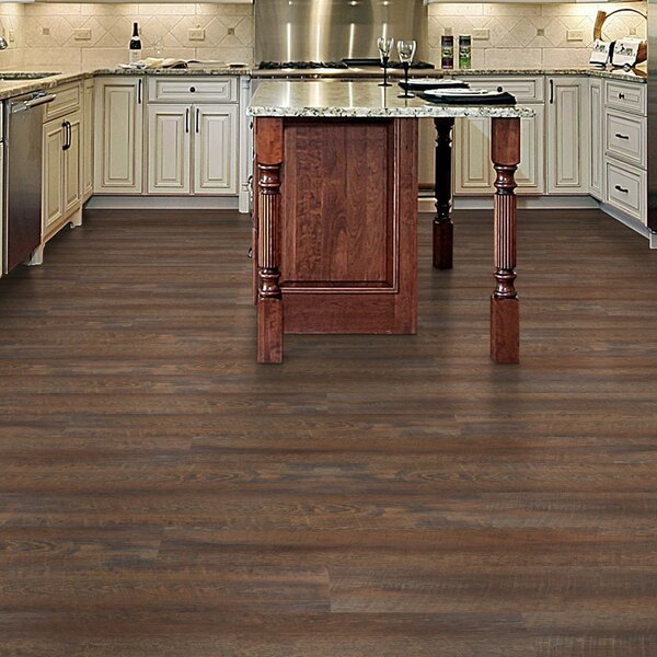 Click Lock 9 x 48 x 8mm WPC Luxury Vinyl Plank in Brown by Floressence Surfaces