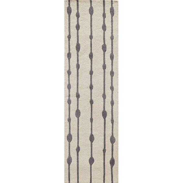 Sawyer Hand-Tufted Gray Area Rug by Brayden Studio