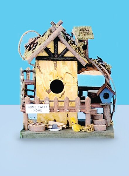 Home Sweet Home 10 in x 7 in x 6 in Birdhouse by Land and Sea