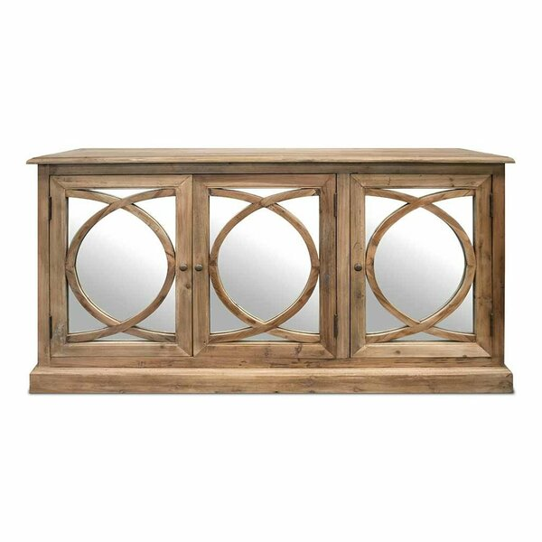 Dalrymple 3 Door Mirrored Apothecary Accent Cabinet
