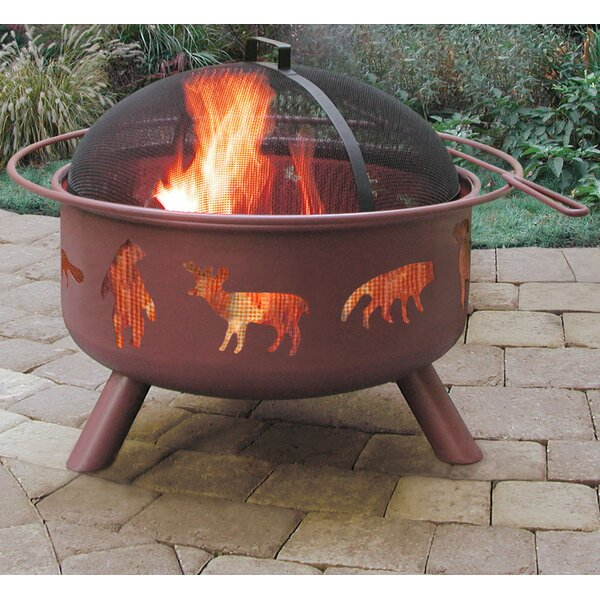 Big Sky Wildlife Steel Wood Burning Fire Pit by Landmann
