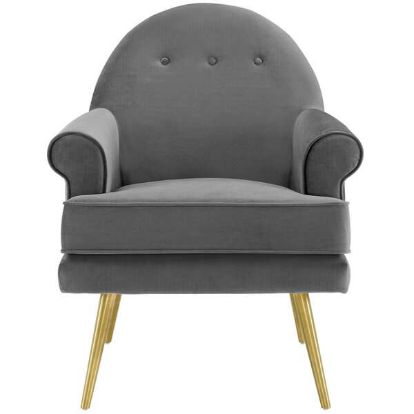 Shippy Tufted Button Accent Performance Velvet Armchair by Ivy Bronx