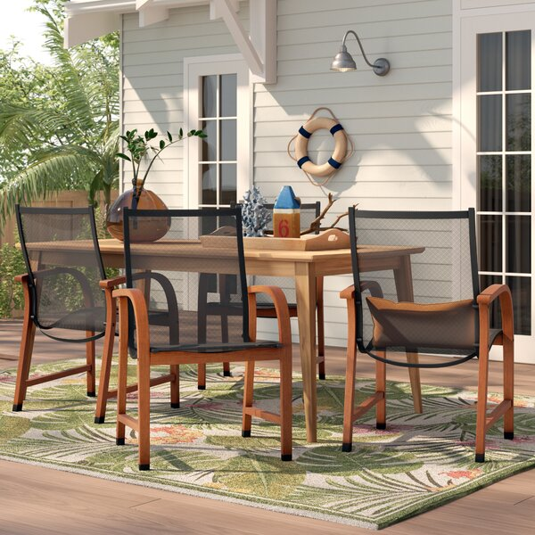 Ely Patio Dining Chair (Set of 4) by Beachcrest Home