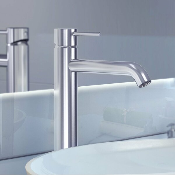 St. Lucia Single Hole Bathroom Faucet with Drain Assembly
