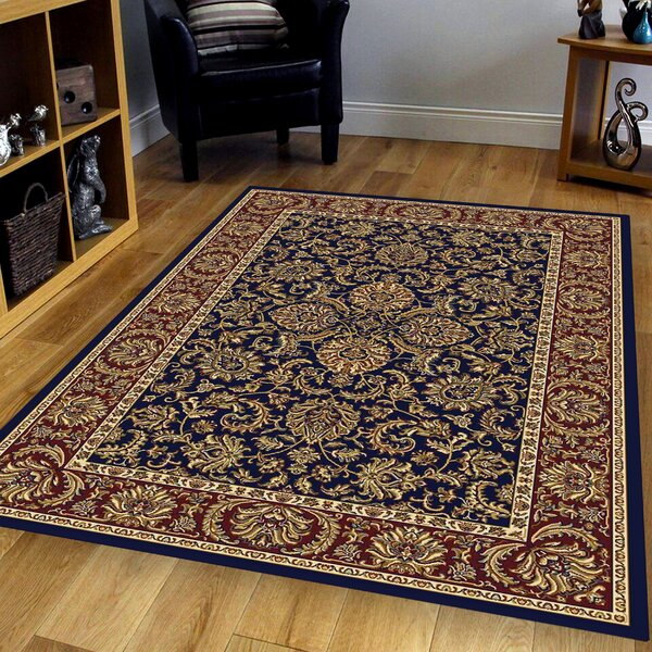 Irrigon Navy/Red Area Rug by The Conestoga Trading Co.