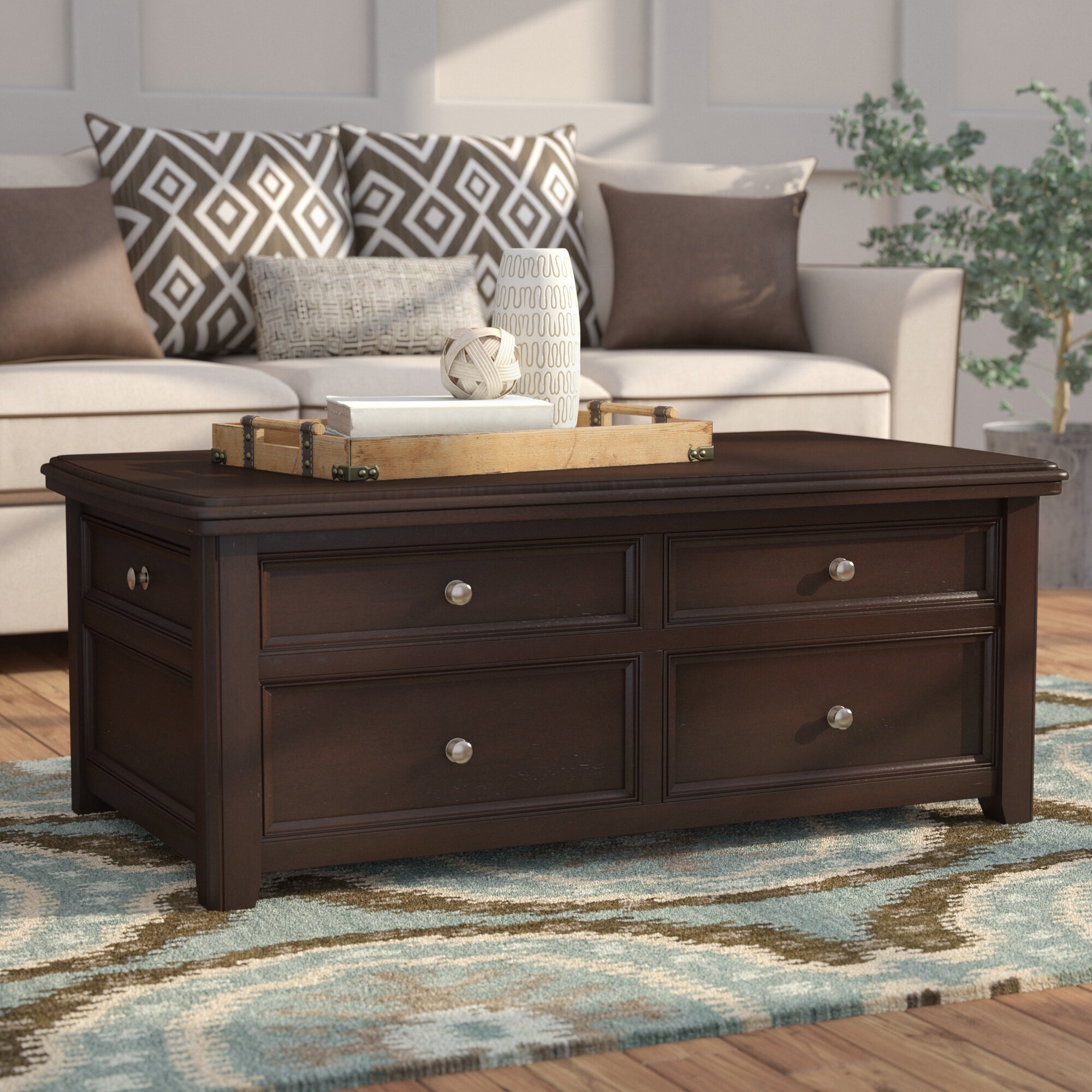 Darby Home Co Han Trunk Coffee Table With Lift Top Reviews Wayfair