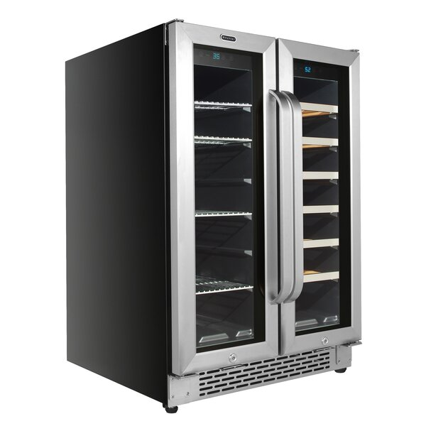 20 Bottle Dual Zone Freestanding/Built-In Wine & Beverage Refrigerator By Whynter