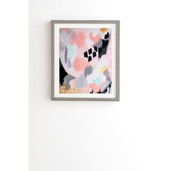 Serenity Abstract Framed Graphic Art by East Urban Home