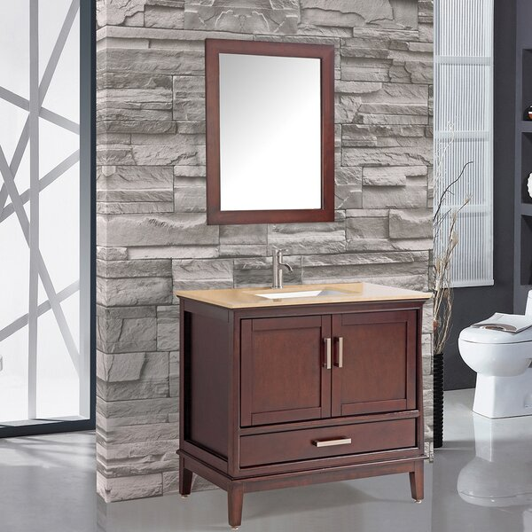 Middleton 36 Single Bathroom Vanity Set with Mirror by Andover Mills