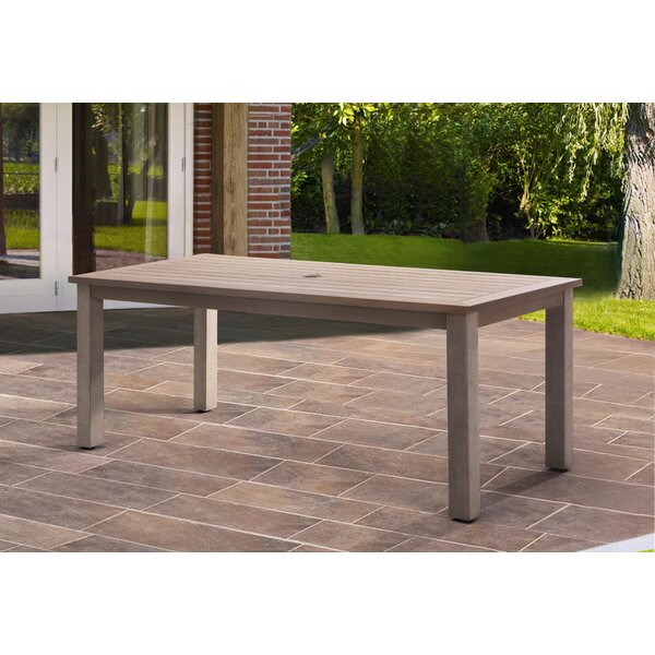 Itzhak Aluminum Dining Table By Ivy Bronx by Ivy Bronx Coupon