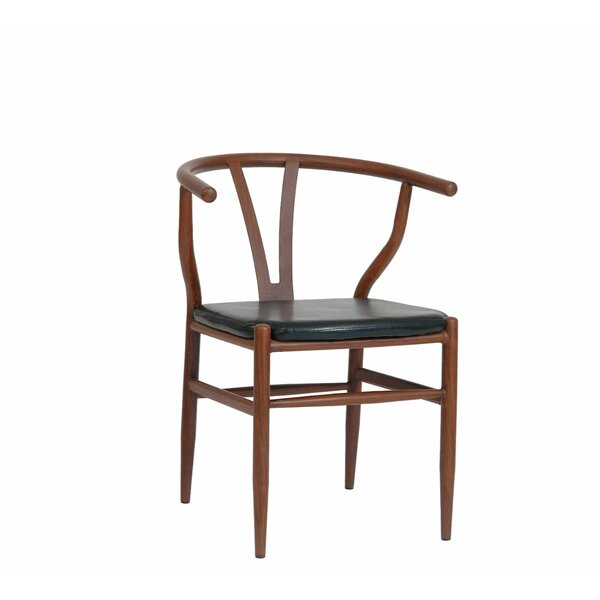 Upholstered Metal Windsor Back Side Chair In Mahogany (Set Of 2) By ERF Inc.
