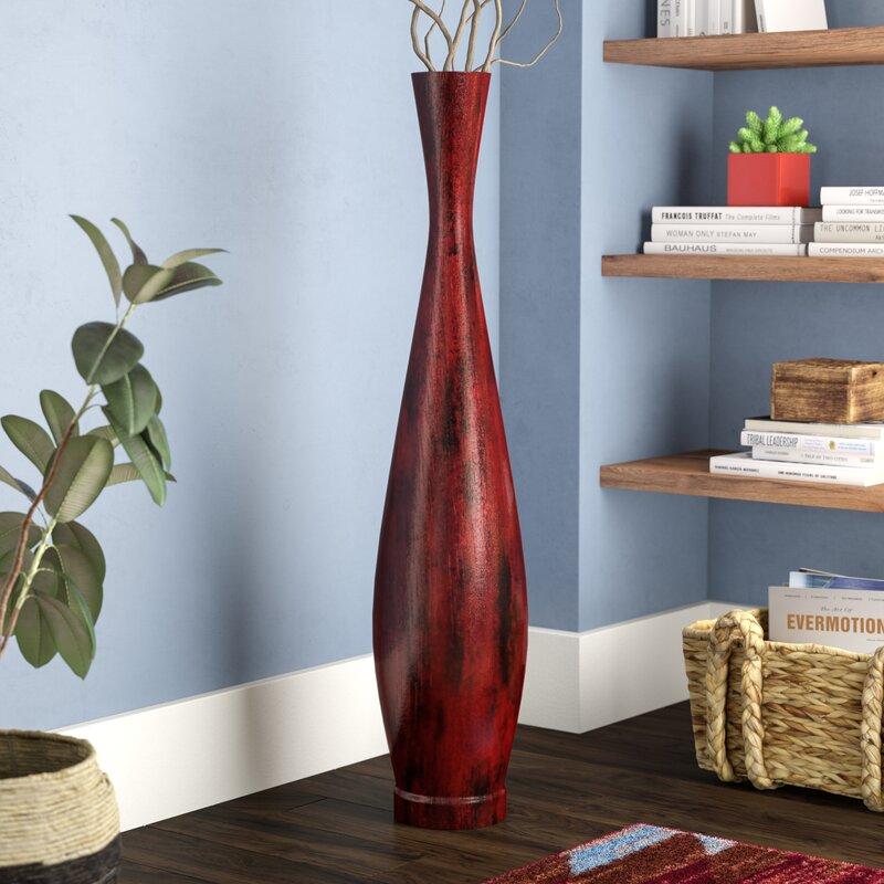 World Menagerie Trumpet Resin Floor Vase Reviews Wayfair