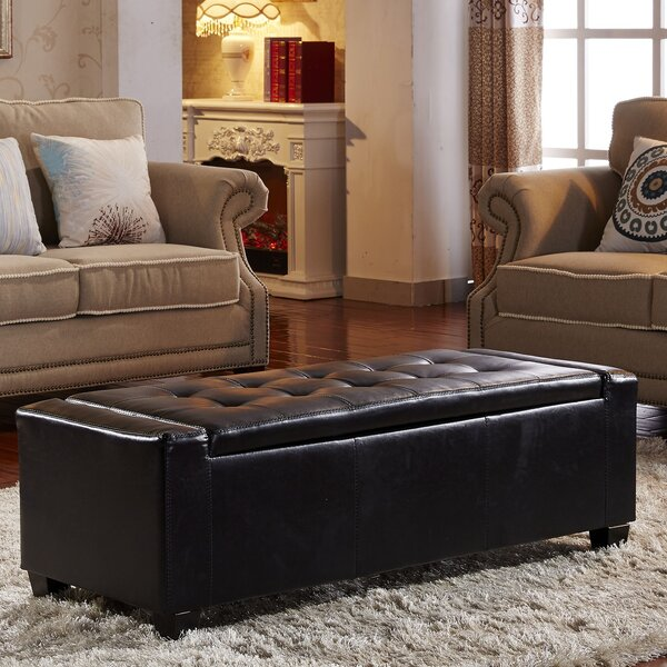 Contemporary Leather Storage Bench by NOYA USA