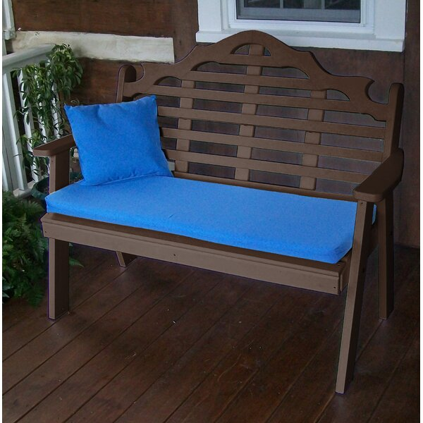 Coury Plastic Garden Bench by Rosecliff Heights