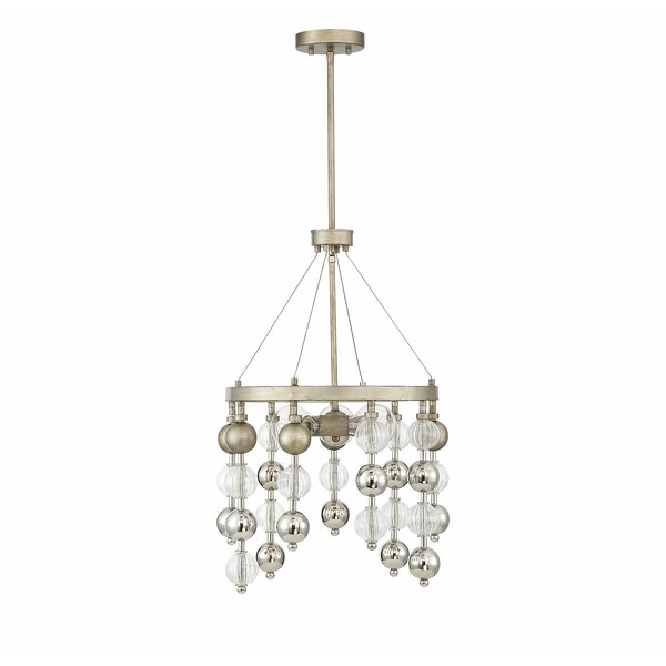 Maclachlan 3-Light Crystal Wagon Wheel Chandelier by World Menagerie World Menagerie