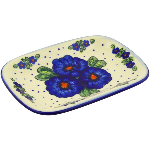 Polish Pottery 10 Rectangular Platter by Polmedia