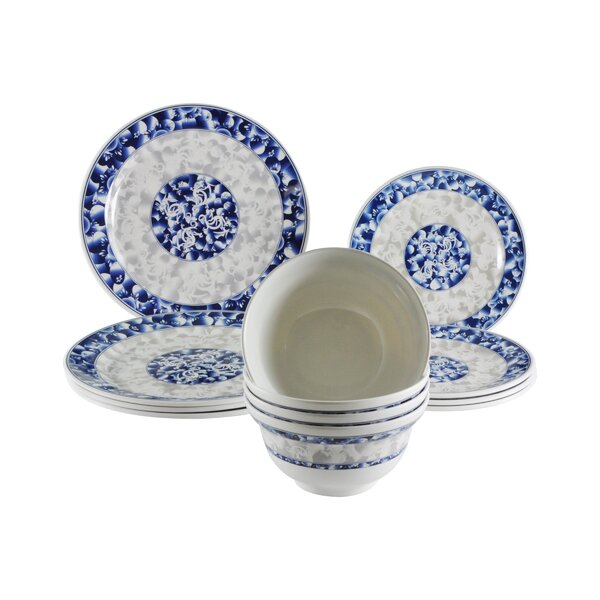 Lemasters Dragon Melamine 12 Piece Dinnerware Set, Service for 4 by Three Posts