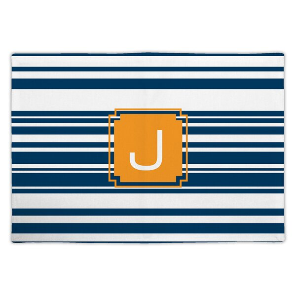 Block Island Single Initial Fabric Placemat by Dabney Lee