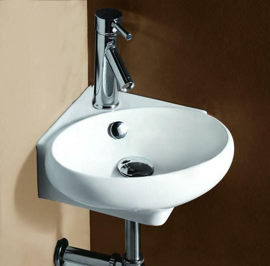 Porcelain Ceramic 15 Wall Mount Bathroom Sink with Overflow by Elanti