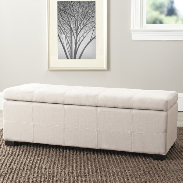 Park Upholstered  Storage Bench by Safavieh