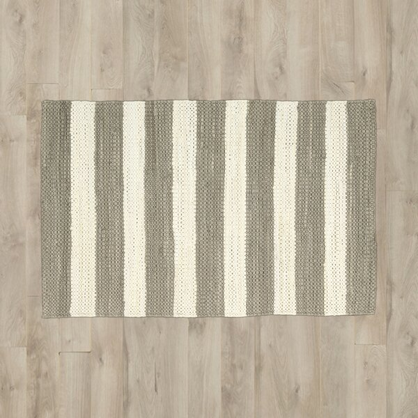 Mayfair Stripe Mocha/Cream Area Rug by Breakwater Bay