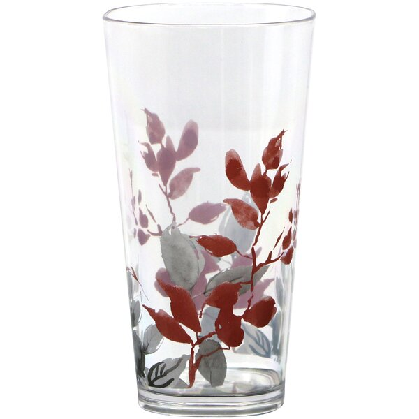 Kyoto Leaves Acrylic 19 oz. Drinkware set (Set of 6) by Corelle