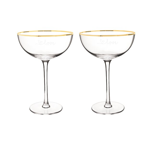 Love Gold 8oz. Champagne Flute (Set of 2) by Cathys Concepts