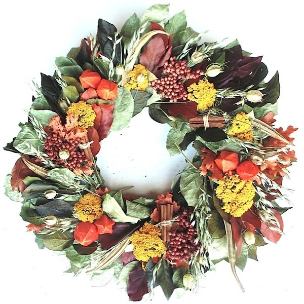 Abundant Harvest Wreath by Dried Flowers and Wreaths LLC