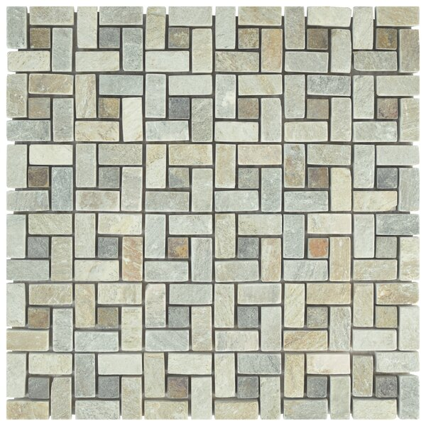 Peak 12 x 12 Natural Stone Mosaic Tile in Gray/Beige by EliteTile