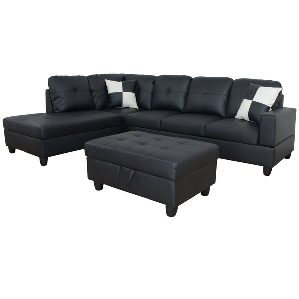 Spirea Sectional with Ottoman by Ebern Designs
