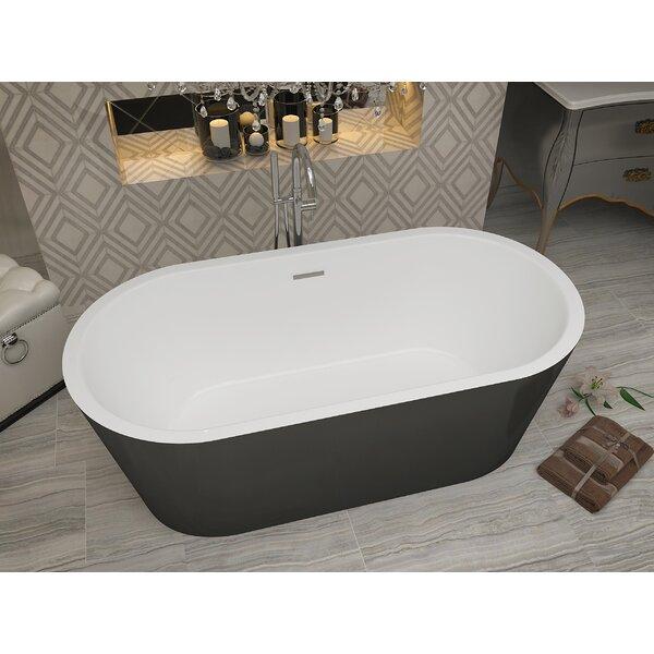 Dualita 63 x 31.4 Freestanding Soaking Bathtub by ANZZI
