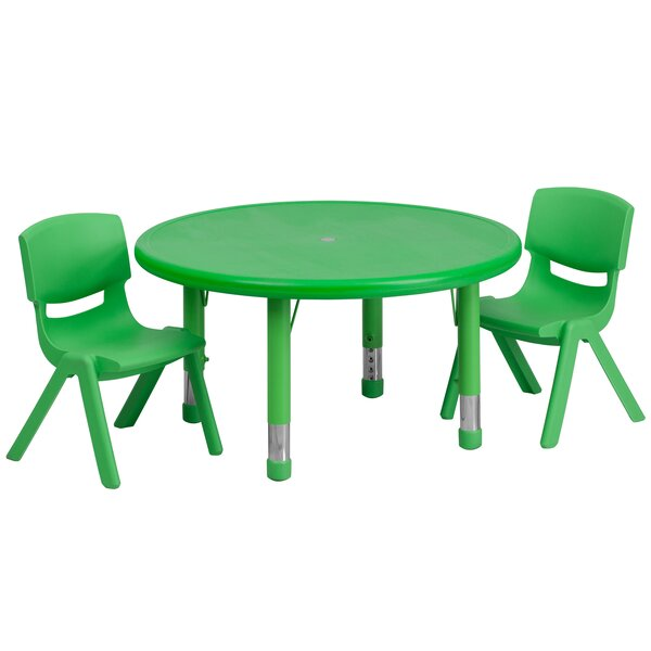 3 Piece Circular Activity Table & 10.5 Chair Set b